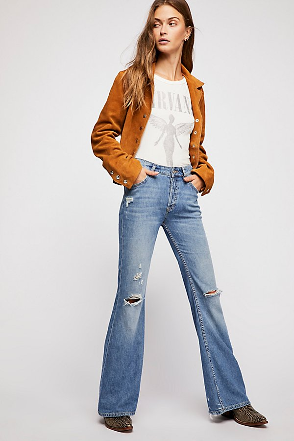Slide View 1: Relaxed Heritage Flare Jeans