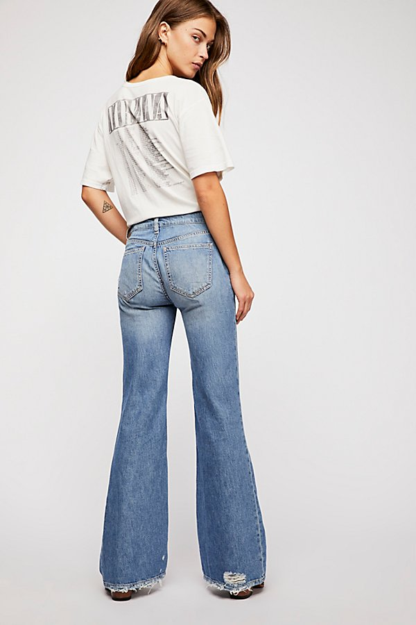 Slide View 2: Relaxed Heritage Flare Jeans
