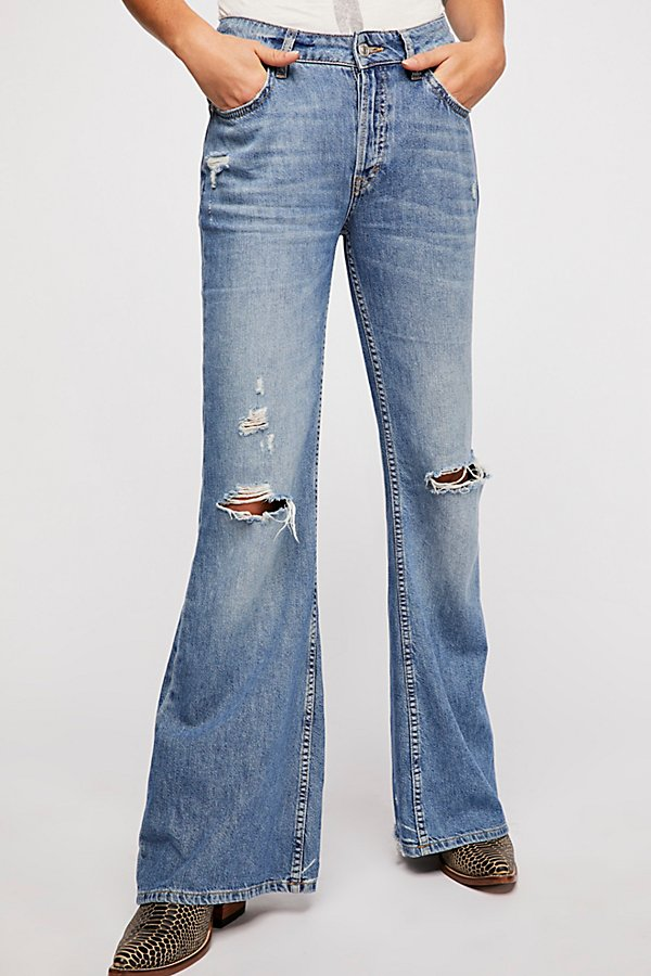Slide View 3: Relaxed Heritage Flare Jeans