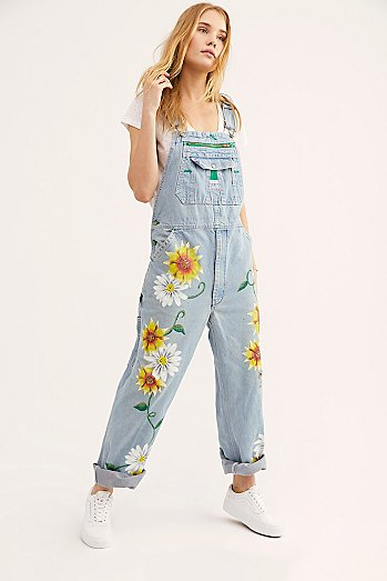 Rialto Jean Project Floral Painted Overalls