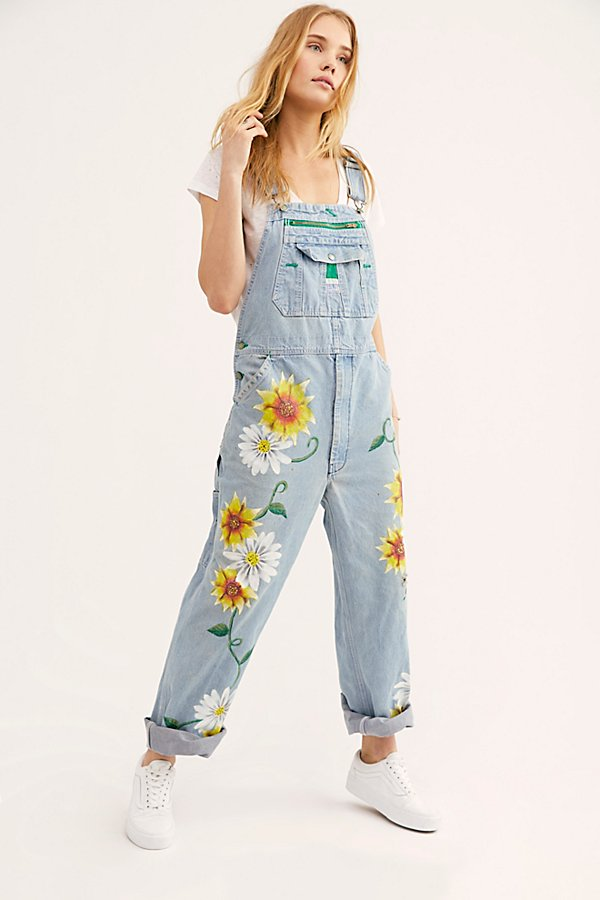 Slide View 1: Rialto Jean Project Floral Painted Overalls