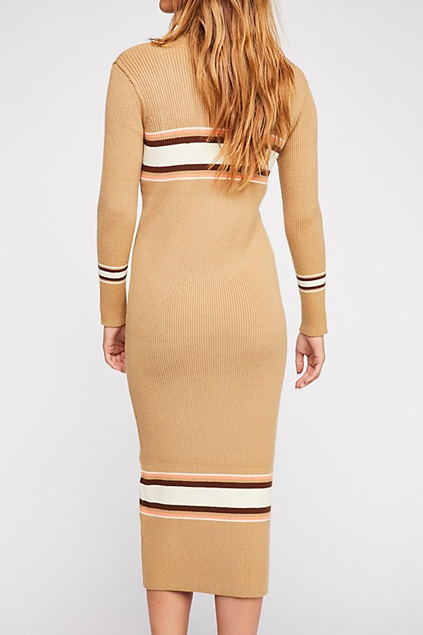 Slide View 3: Sport Stripe Midi Dress