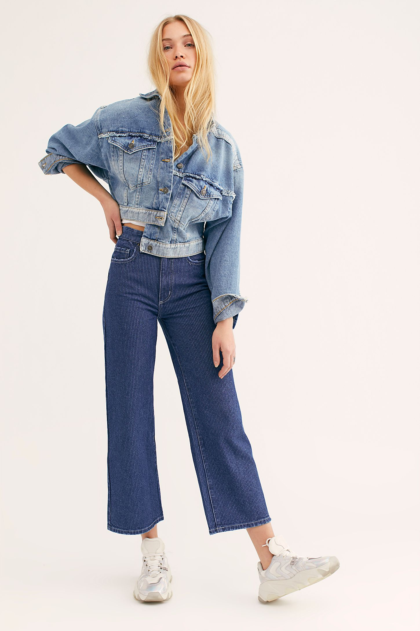60b9bbb697 Slide View 5: Lee High-Rise Wide-Leg Jeans