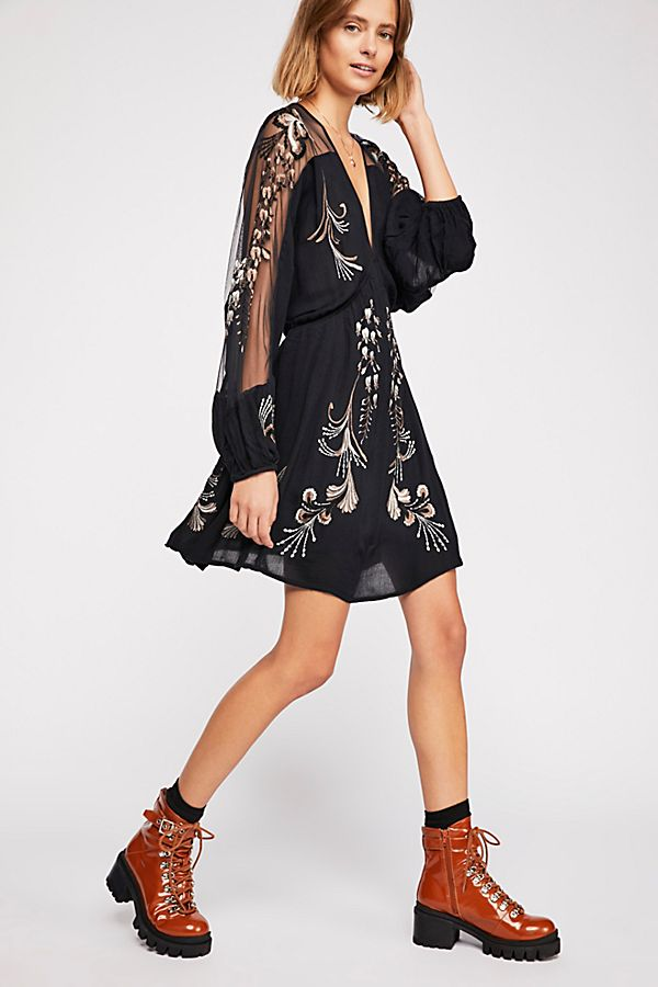 03a00f8e Bonjour Embroidered Mini Dress | Free People