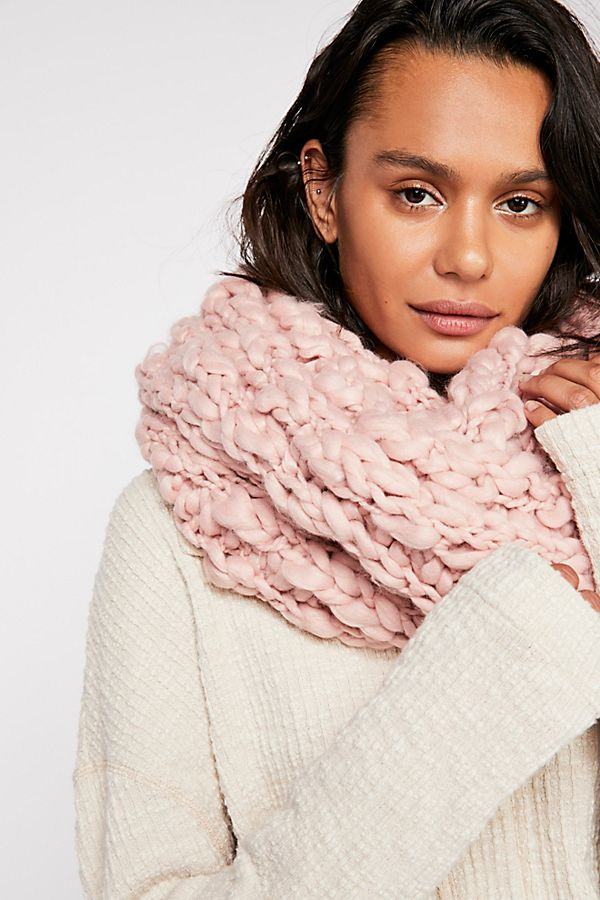 Dreamland Chunky Knit Cowl Scarf Free People