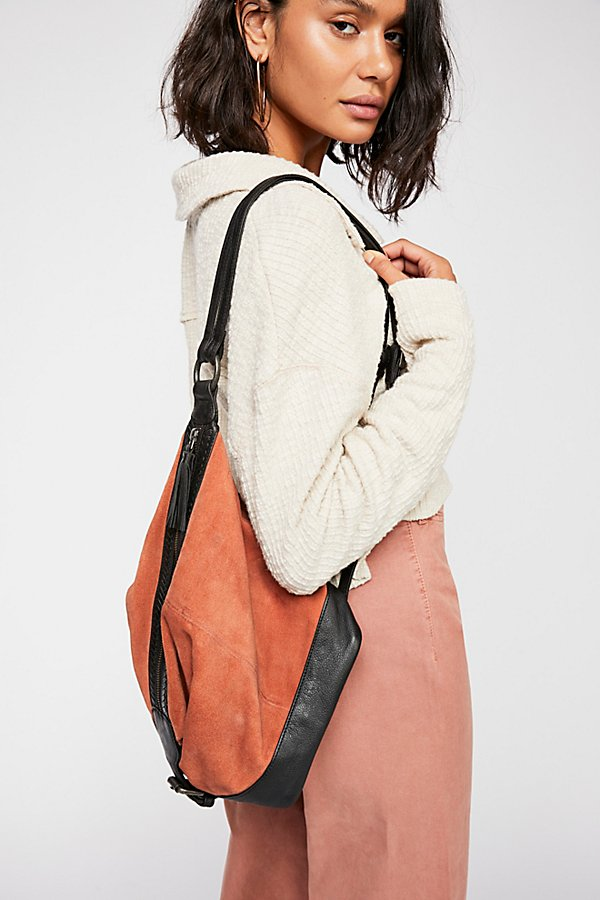 Slide View 1: Serena Suede Slouchy Backpack