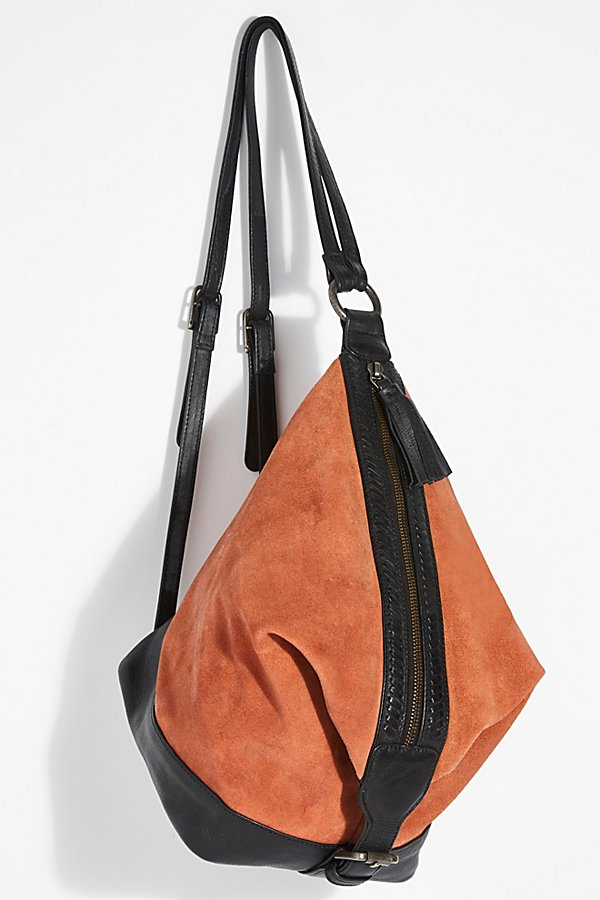 Slide View 2: Serena Suede Slouchy Backpack