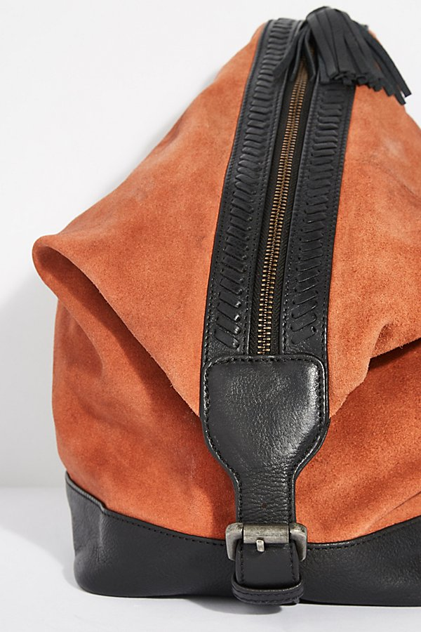 Slide View 3: Serena Suede Slouchy Backpack