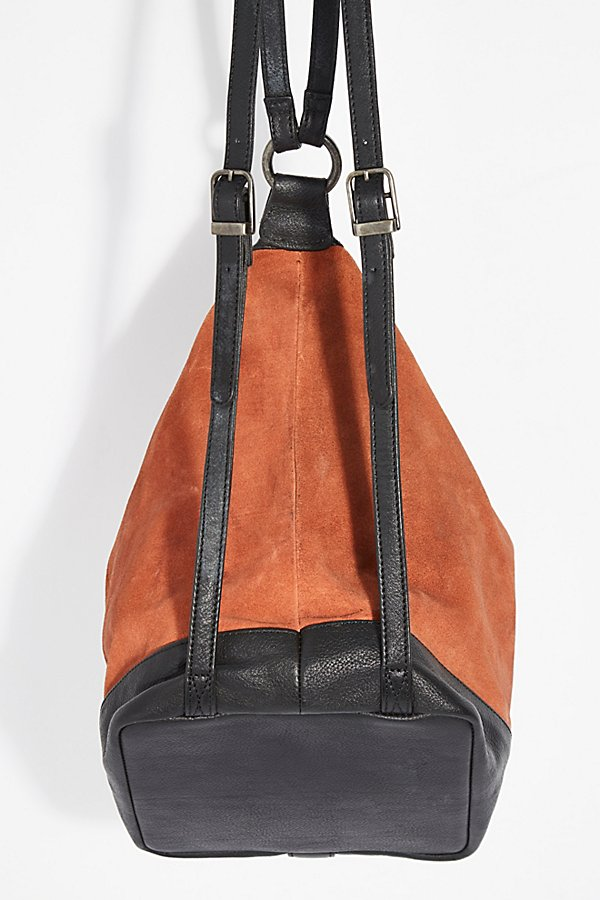 Slide View 4: Serena Suede Slouchy Backpack