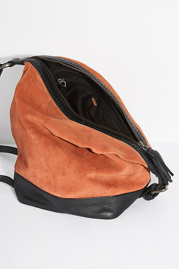 Slide View 5: Serena Suede Slouchy Backpack
