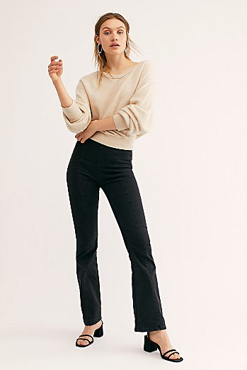 Slim Pull On Flare Jeans