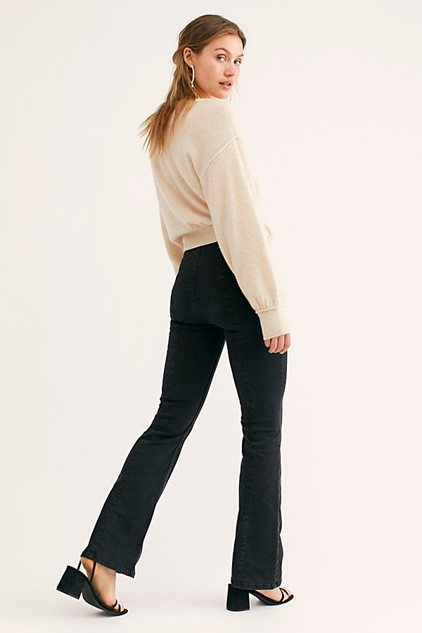 Slide View 2: Slim Pull On Flare Jeans