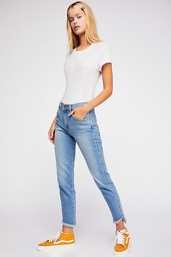 c128ad82 Slide View 1: Wrangler High-Rise Heritage Fit Jeans