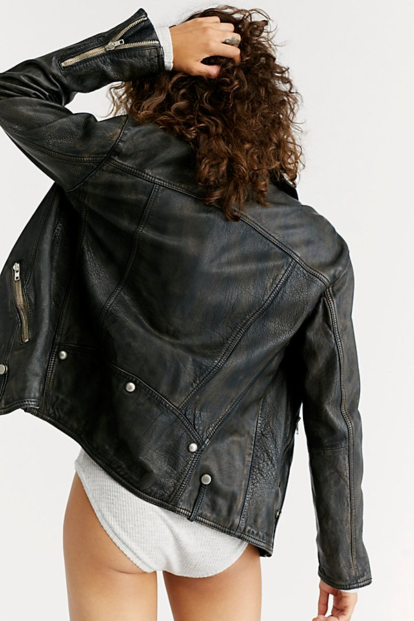 Slide View 3: Jealousy Leather Moto Jacket