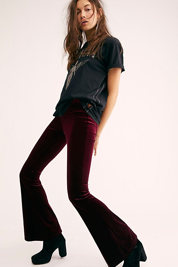 e713f5d9276ec Blank NYC Velvet Pull-On Flare Pants