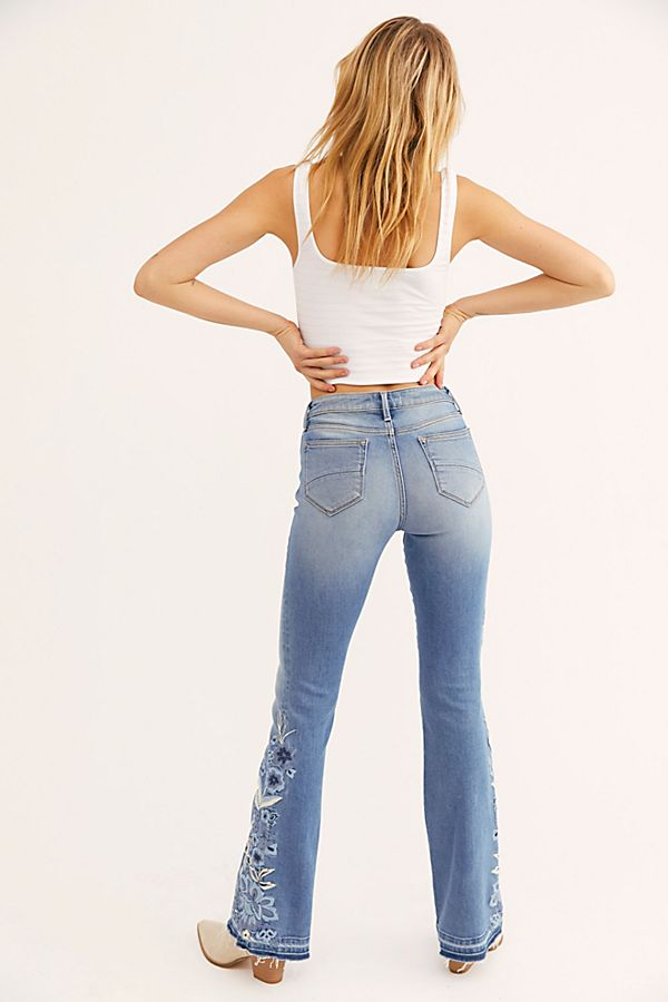 fdacabde87ac04 Slide View 2: Driftwood Isabel Embroidered Flare Jeans