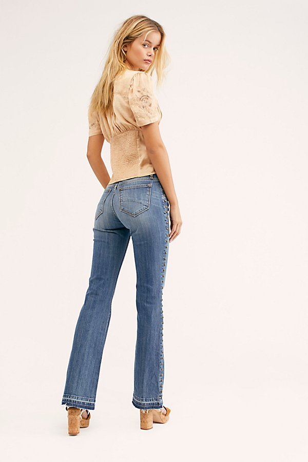 Slide View 2: Driftwood Isabel Embroidered Flare Jeans