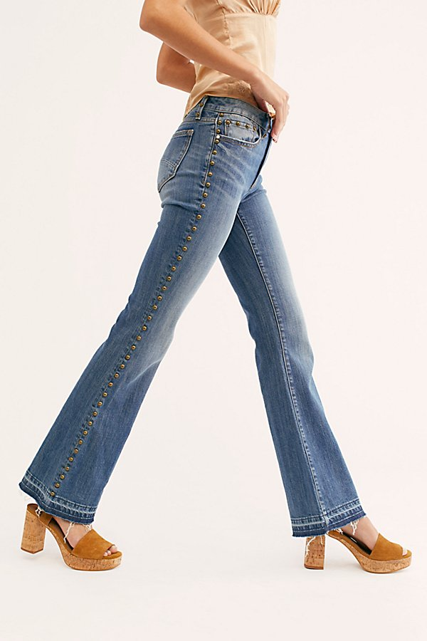 Slide View 3: Driftwood Isabel Embroidered Flare Jeans