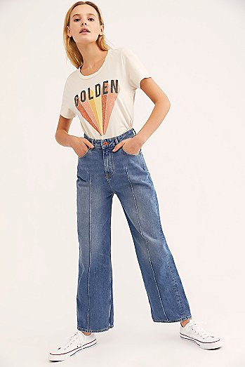 Scotch & Soda Seasonal Wide-Leg Crop Jeans