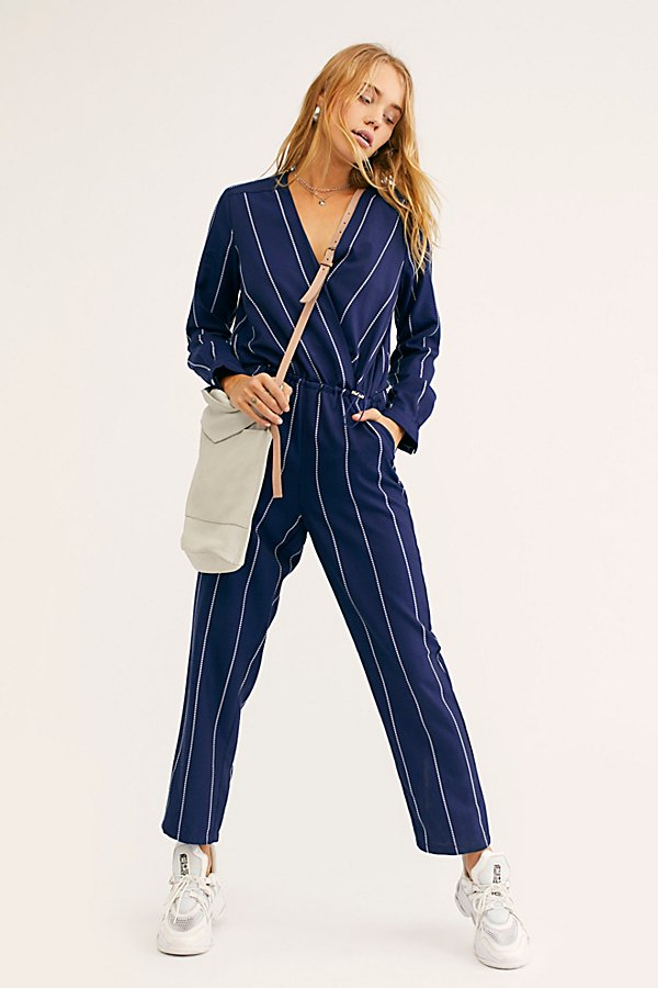 Slide View 1: All In 1 Stripe Jumpsuit