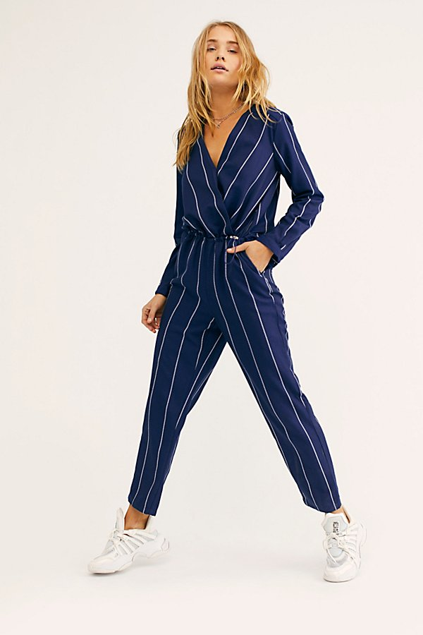 Slide View 2: All In 1 Stripe Jumpsuit