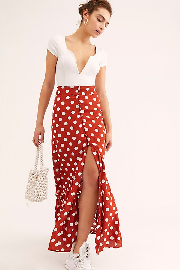 Slide View 1: Unbutton Me Maxi Skirt