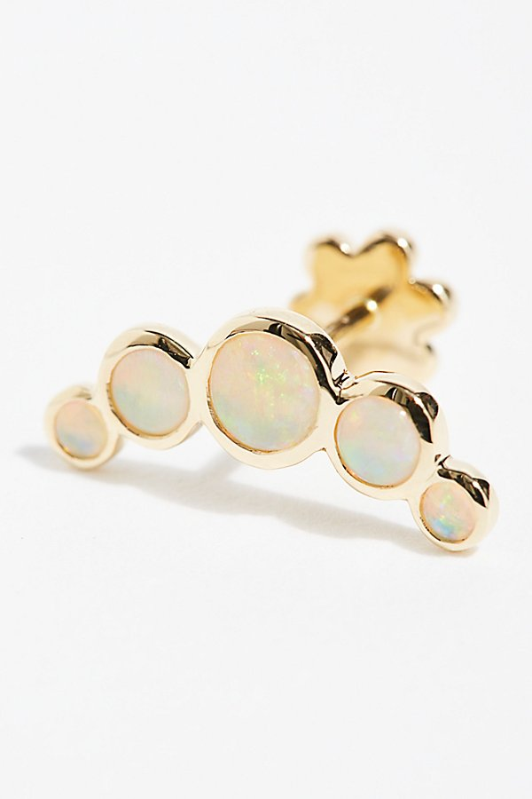 Slide View 1: Five Opal Garland Threaded Stud Single Earring