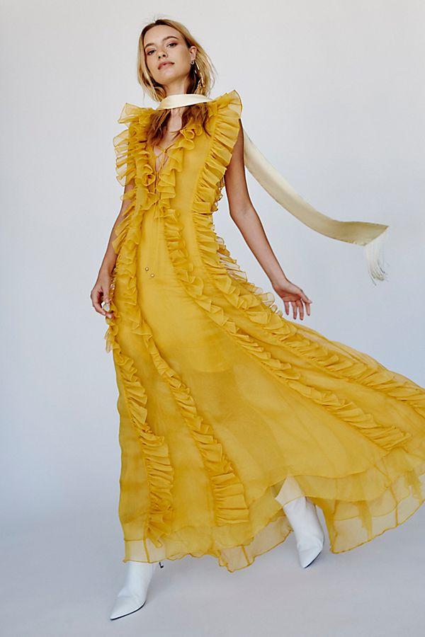 248a84f2cf990 Ambra Layered Ruffle Maxi Dress