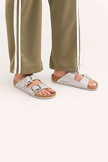 Arizona Big Buckle Washed Metallic Birkenstock