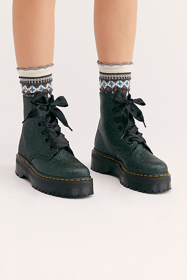 Slide View 2: Dr. Martens Molly Glitter 6 Eye Boot