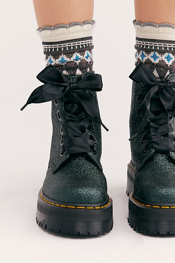 Slide View 3: Dr. Martens Molly Glitter 6 Eye Boot