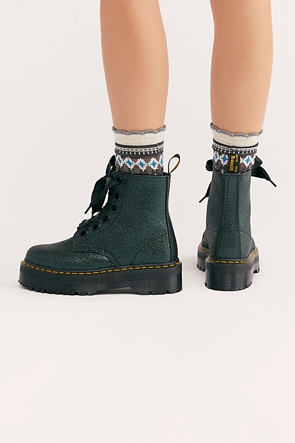 Slide View 4: Dr. Martens Molly Glitter 6 Eye Boot