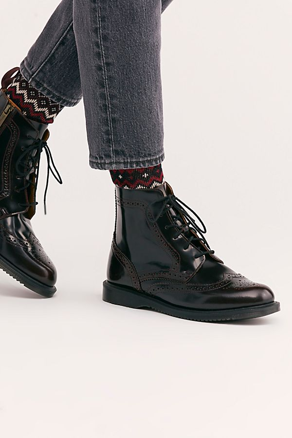 152ea7f53 Dr. Martens Delphine 8 Eye Brogue Boot | Free People