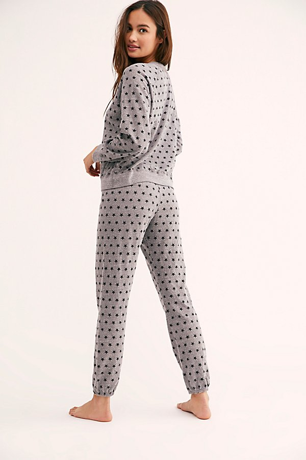 Slide View 3: Elastic Waist Sweats With Polka Stars