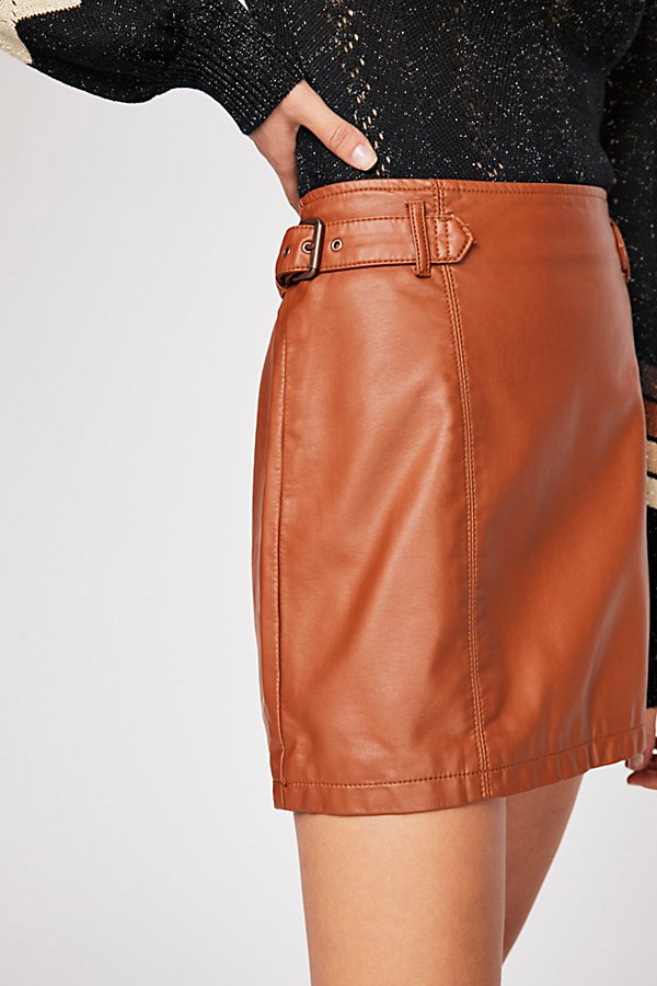 Slide View 3: Charli Vegan A-Line Skirt