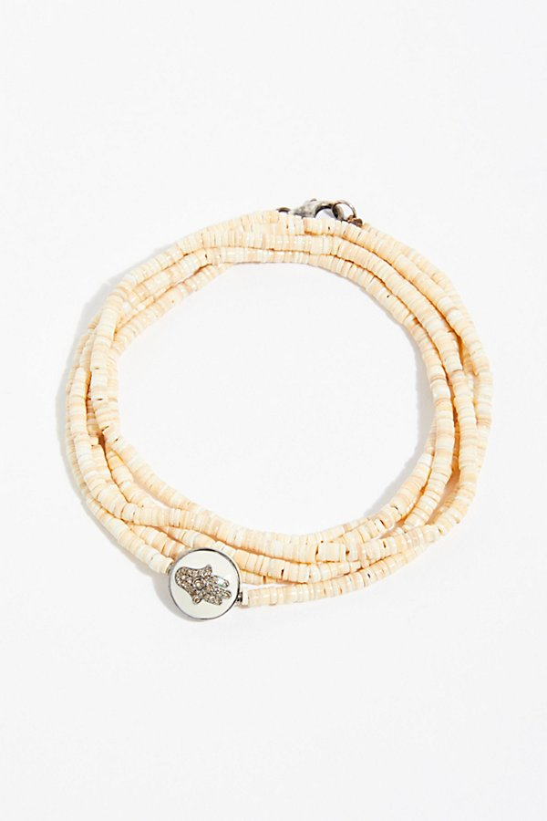 Slide View 1: Diamond Heishi Shell Bracelet