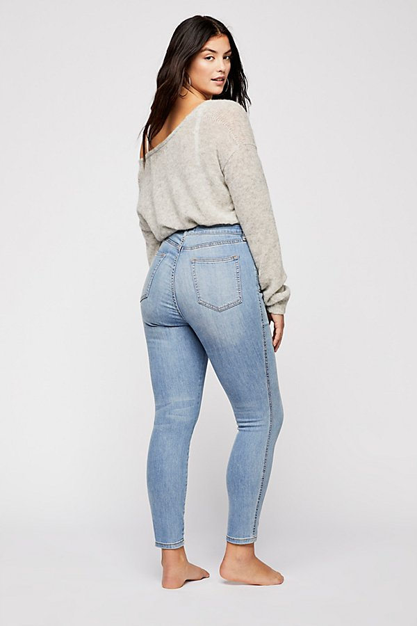 Slide View 7: CRVY High-Rise Super Skinny Jeans
