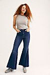 Thumbnail View 3: CRVY Super High-Rise Lace-Up Flare Jeans