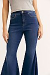 Thumbnail View 5: CRVY Super High-Rise Lace-Up Flare Jeans