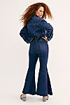 Thumbnail View 6: CRVY Super High-Rise Lace-Up Flare Jeans