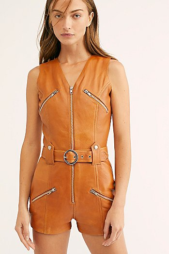 Moto Leather Romper