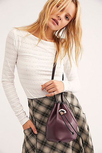 Iacobella Nirmala Drawstring Bucket Bag