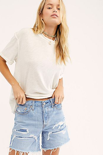 e07fe3d5 Levi's Womens Jean Shorts & Denim Cut Off Shorts | Free People