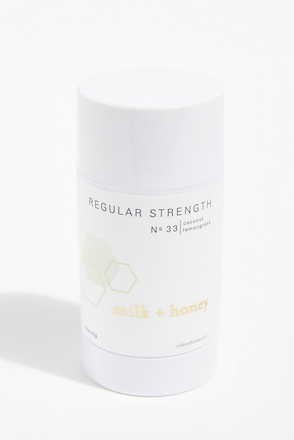 Slide View 1: Milk + Honey Regular Strength Deodorant