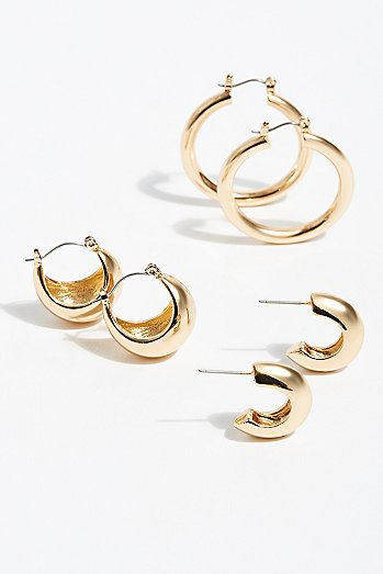 Celina Hoop Earring Set