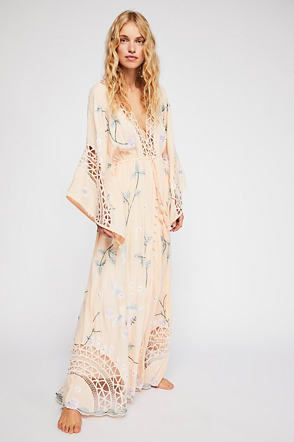 Slide View 1: I Am Lola Embroidered Maxi Dress