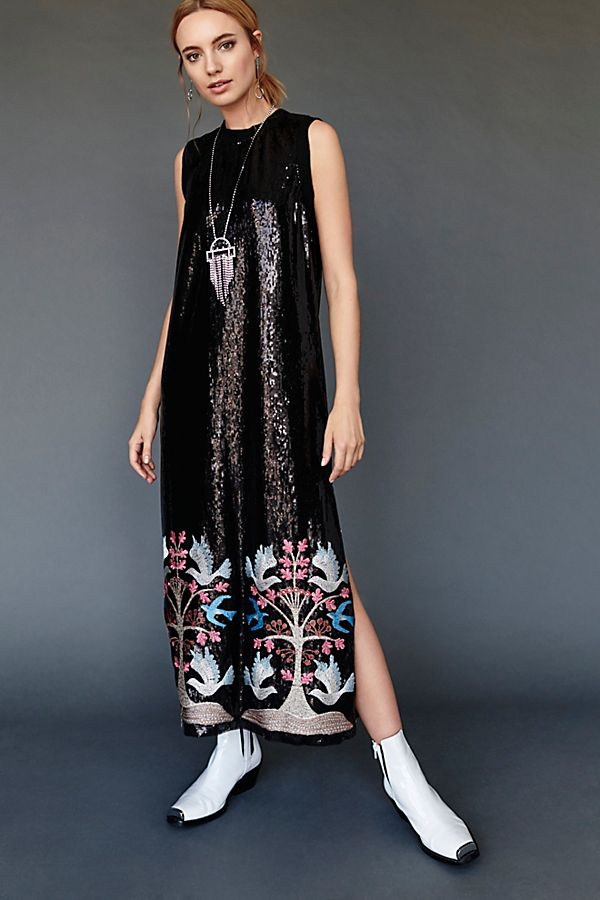 e0794cc0 Blue Bird Sequin Embroidered Maxi Dress | Free People