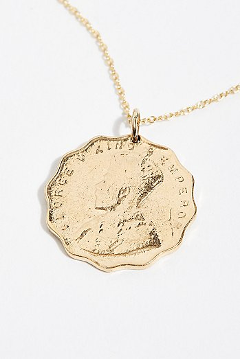 Anna Coin Pendant Necklace