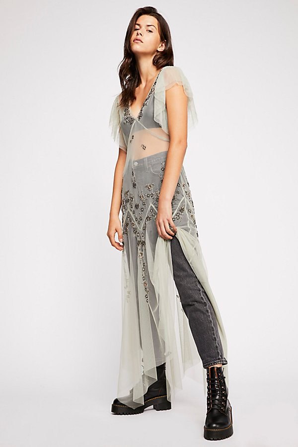 Slide View 2: Annabelle Embroidered Maxi Slip