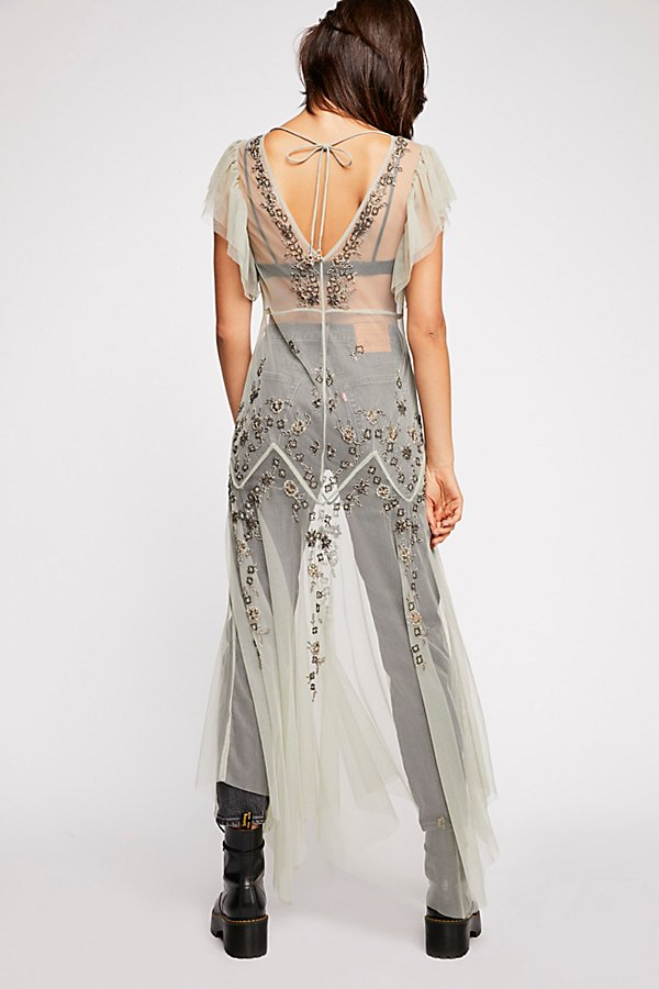 Slide View 3: Annabelle Embroidered Maxi Slip